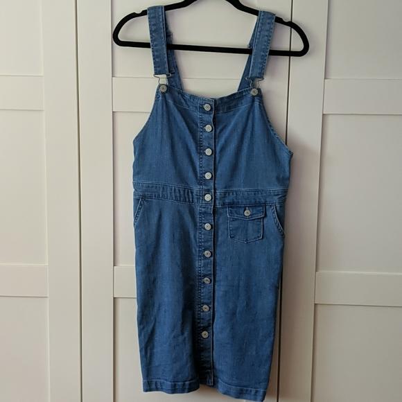 GAP Denim Jean Overalls Dress